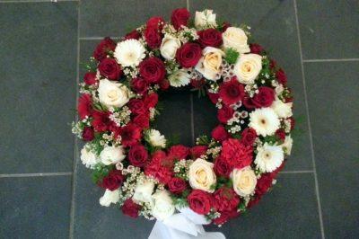 Krans blomster 02