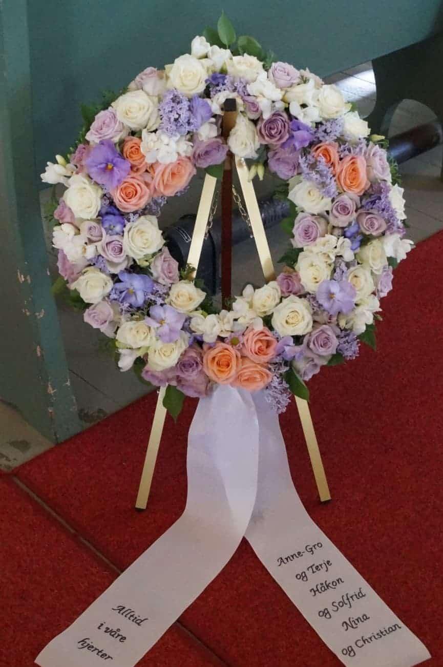 Krans blomster 07