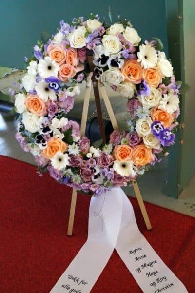 Krans blomster 08