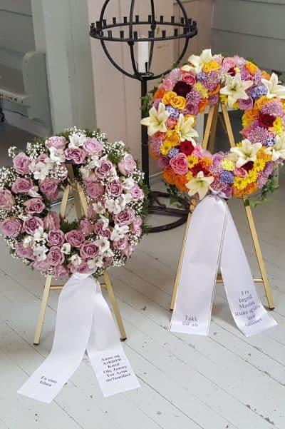 Krans blomster 19